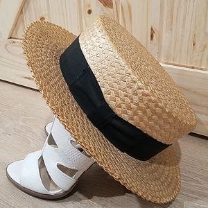 Vintage Darien hat straw weaved boater unique rare